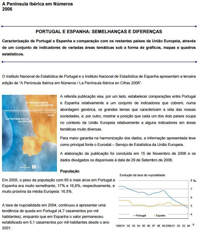 Portugal e Espanha em Números