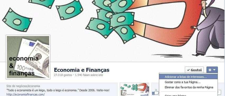 Economia e Finanças no faceboo