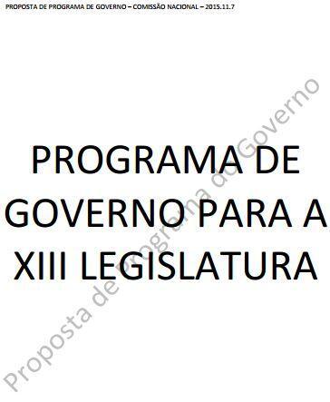 Programa de Governo PS