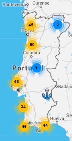 Praias com Bandeira Azul 2016