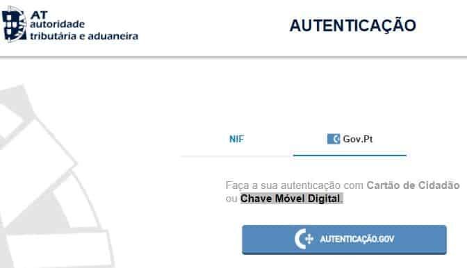 Acesso ao Portal das Finanças via Chave Móvel Digital
