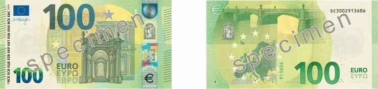 Novas Notas de €100 e €200