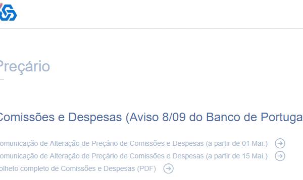 Preçário CGD